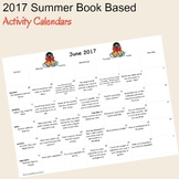 2017 Summer Book Based Activity Calendars