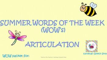 2017 Summer Practice: Preschool-1st Grade Articulation