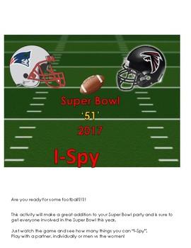 2017 Super Bowl 51 I Spy