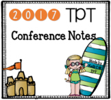 2017 TPT Conference Planner ~ California Beach Theme