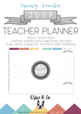 2017 Teacher Diary Weekly Planner A4