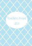 2017 Teacher Planner/Diary