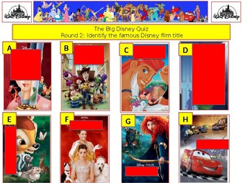 2017 - The Walt Disney Mega Quiz (What Disney Films) - 7 rounds and 62+Qs