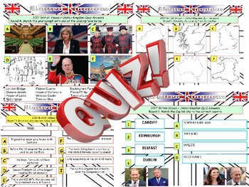 2017: UK and British Values Quiz  - 7 Rounds and over 40 Questions. Civics