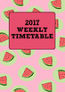 2017 Weekly Timetable Planner