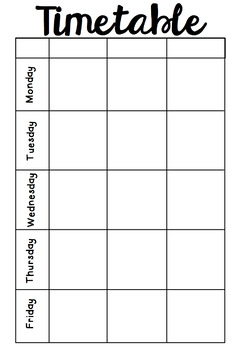 weekly timetable planner by missyates x2 teachers pay teachers