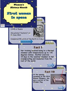 2017 Women's History Month-1st woman in space-reading + printables + Power Point