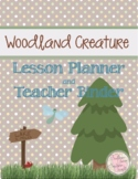2017 Woodland Creature Teacher Planner and Forms Combo