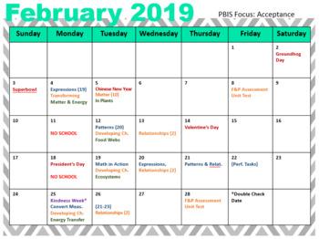 2018-19 5th Grade Pacing Guide {Editable}