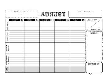 2018-19 Elementary Student Planner
