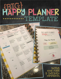 2018-19 BIG Happy Planner Teacher Template {+Title Page and Checklist Templates}