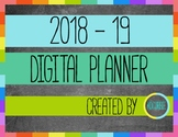 2018-19 Digital Teacher Planner Google Slides Compatible