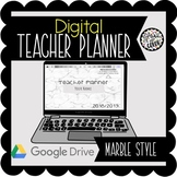 2018/19 Digital Teacher Planner on Google Slides - Marble Minimalist