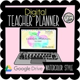 2018/19 Digital Teacher Planner on Google Slides - Watercolor