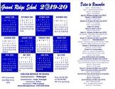 2018-19 Grand Ridge School F-B-L-A Calendar Template