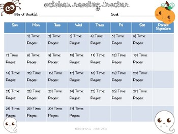 2018/19 Monthly Reading Calendars
