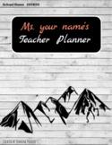 2018/19 Mountain Boho Teacher Planner Binder