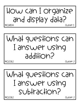 2018-19 NC 1st Grade Math Essential Questions