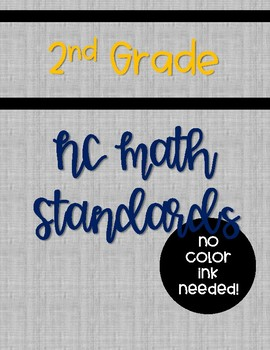 2018-19 NC 2nd Grade Math Standards