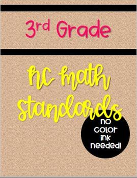 2018-19 NC 3rd Grade Math Standards