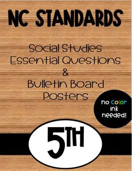 5th Grade NC Social Studies Standards and Focus Wall Posters