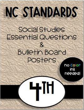 4th Grade NC Social Studies Standards and Focus Wall Posters