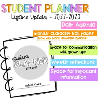 2018-19 Student Planner - LIFETIME UPDATES