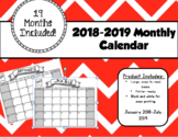2018/2019 - 19 Month Calendar