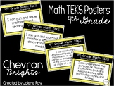"4th Grade Math TEKS ""I Can"" Statement Posters: CHEVRON BRIGHTS"