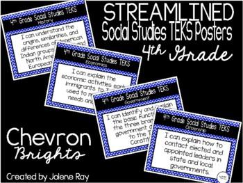 "2018-2019 4th Grade Social Studies TEKS ""I Can"" Statements: CHEVRON BRIGHTS"