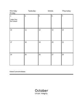 2018-2019 AISD School Calendar (Editable)