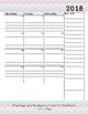 2018 - 2019 Academic Calendar and Weekly To Do List