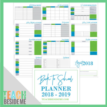 2018-2019 Back to School Planner