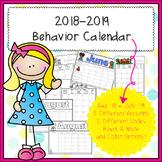 2018-2019  Behavior Calendar & Behavior Chart Cards
