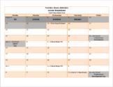 2018-2019 Blank Lesson Planning Calendar