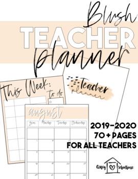 2018-2019 Blush Pink Teacher Planner
