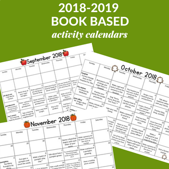 2018-2019 Book Based Homework Calendars