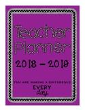2018 - 2019 Calendar / Notes