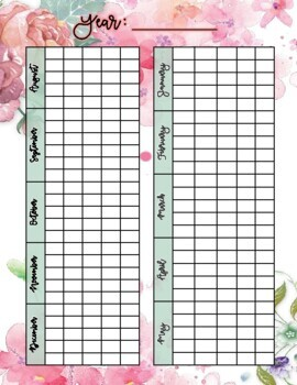 August 2018 - June 2019 Calendar and Lesson Planning Pages - Pink Floral