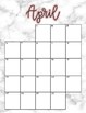 August 2018 - June 2019 Calendar and Lesson Planning Pages - Marble
