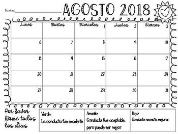Calendario Laura.2018 2019 Calendarios De Conducta