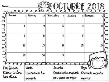 2018-2019 Calendarios de Conducta