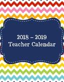 2018-2019 Chevron Calendar
