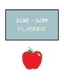2018-2019 Color Calendar Planner (with NYC DOE dates)