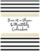 2018-2019 Complete School Counselor Planner - Black, White, & Marble