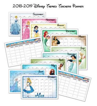 2018-2019 Disney Themed Teacher Planner