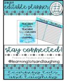 2018-2019 EDITABLE Teacher Planner! (Watercolor)