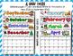 Editable Monthly Calendar 2018 - 2019