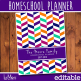 2018-2019 Editable Homeschool Teacher Planner - Herringbone