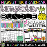 Editable Newsletter & Calendar Templates BUNDLE (Color AND